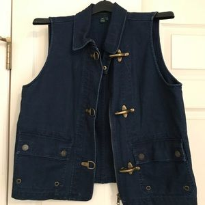 Lauren Jeans Company Overdyed Vest w/Toggles